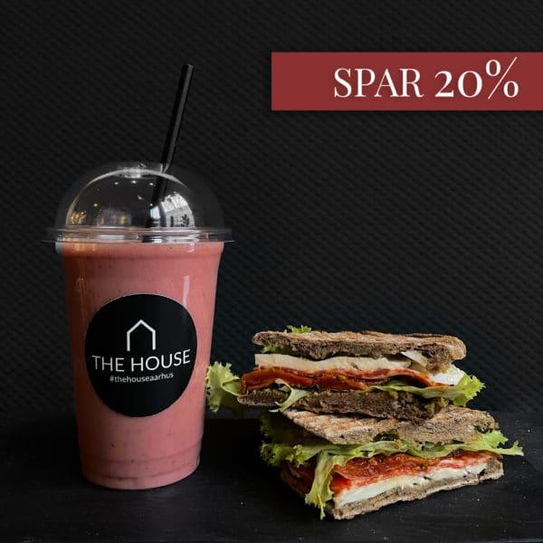 Spar 20% på køb af smoothie og salami hos The House på gågaden i Aarhus